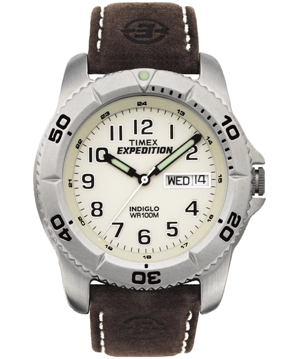 Expedition Traditional 40 mm con cinturino in pelle  Silver-Tone/Brown/Natural large