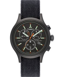 Allied Chronograph 42 mm con cinturino in denim stonewashed Nero large