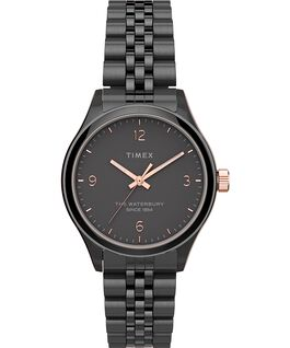 Waterbury Classic 34mm Watch Stainless Steel Gunmetal/Black/Rose-Gold-Tone large