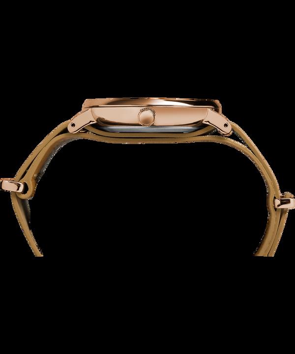 Fairfield Slip-Thru 41 mm con cinturino in pelle  Rose-Gold-Tone/Brown/White large