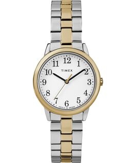 Easy Reader 30mm Stainless Steel Womens Watch Chrome/Two-Tone/White large