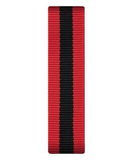 Cinturino a scorrimento in nylon rosso e nero  large