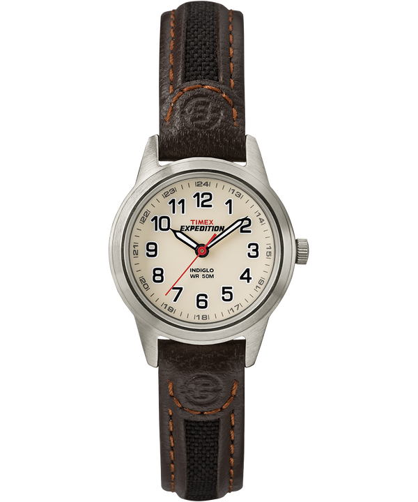 Expedition Field Mini 26 mm con cinturino in pelle  Silver-Tone/Brown/Natural large
