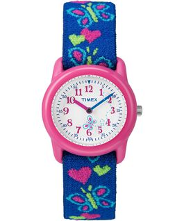 Kids Analog 29 mm con cinturino in tessuto elastico Pink/Blue/White large