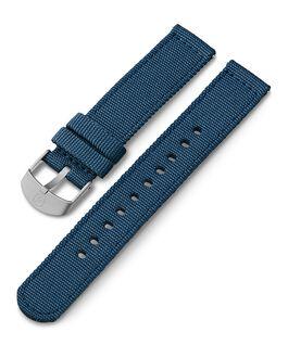 Cinturino in tessuto da 18 mm Blu large