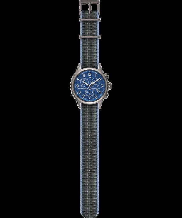 Orologio con cinturino in tessuto elastico Allied Chronograph 42 mm Silver large