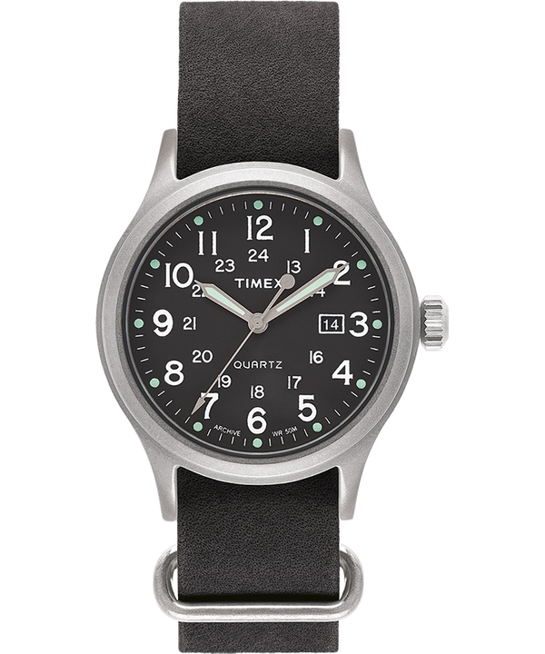 Allied 40mm con cinturino in pelle stonewashed   large