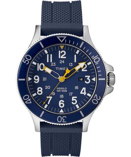 OROLOGIO ALLIED COASTLINE 43MM SILICONE CON CINTURINO IN SILICONE Silver-Tone/Blue large