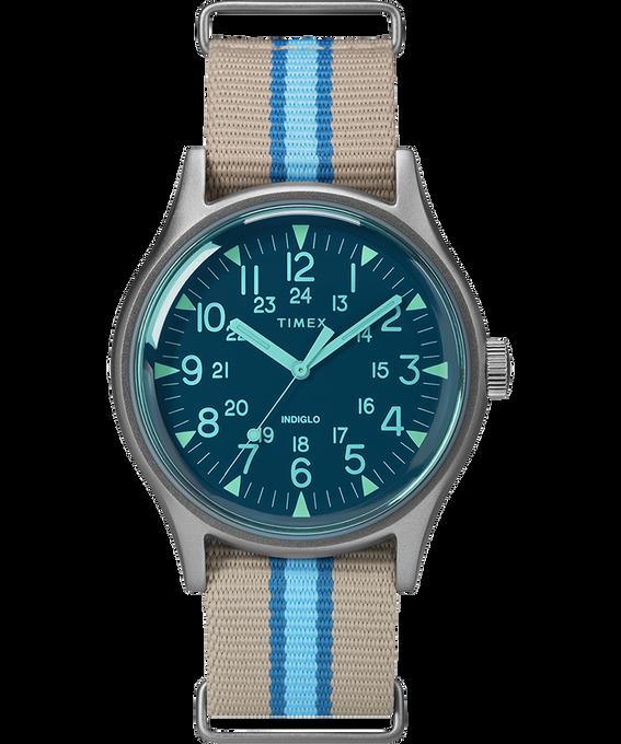 Orologio MK1 California con cinturino il tessuto da 40 mm Silver/Grigio/Blu large