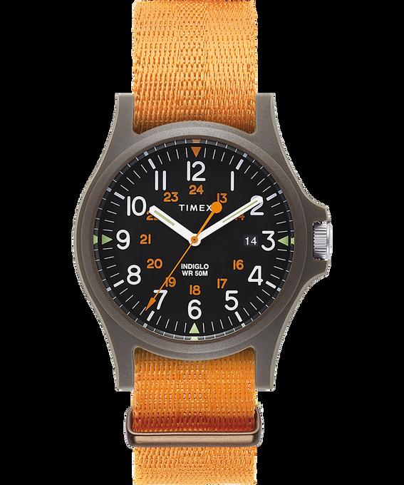 Acadia 40mm Fabric Strap Watch Green/Orange/Black large