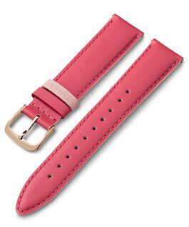 Cinturino in pelle da 20 mm con passante colorato Rosa large