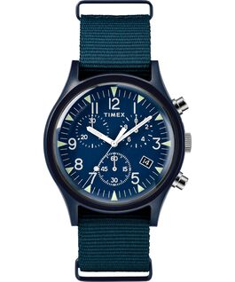 MK1 Aluminum Chronograph 40mm Nylon Strap Watch Blue large