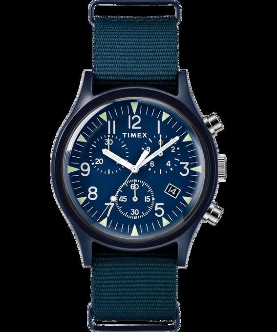 MK1 Aluminum Chronograph 40mm Nylon Strap Watch Blue large