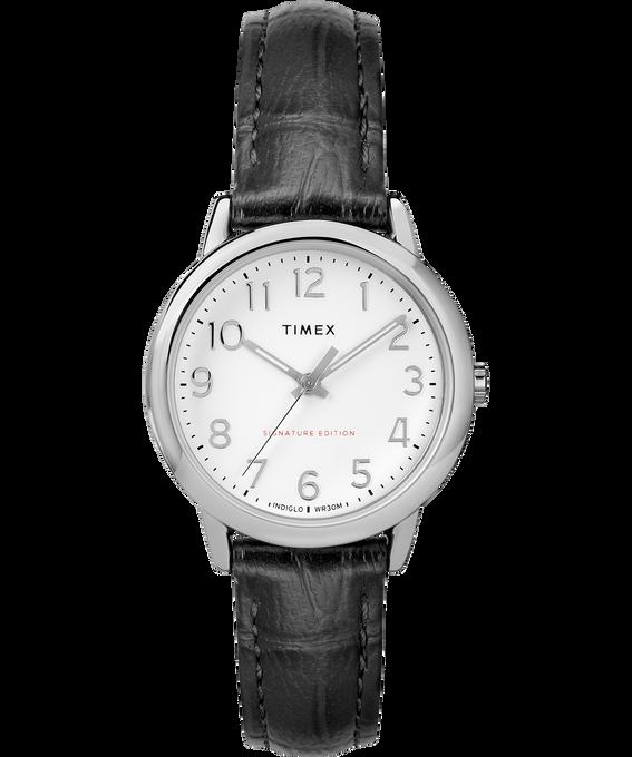 Orologio con cinturino in pelle Easy Reader 30 mm Chrome/Black/White large