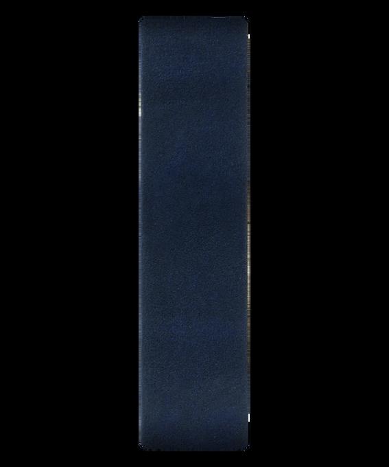 Cinturino a scorrimento in pelle blu  large