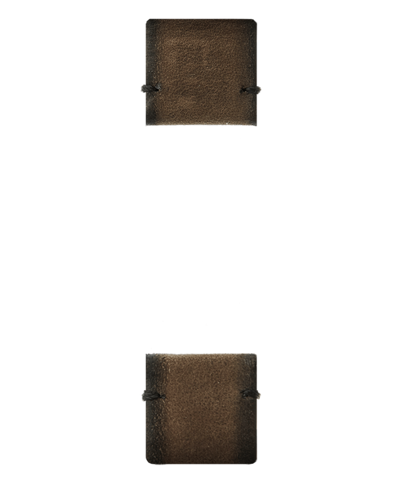 Cinturino in pelle marrone  large