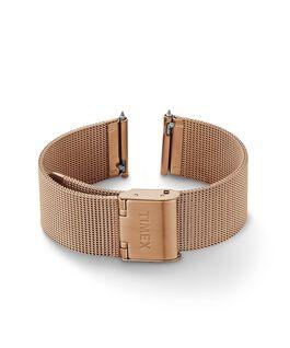 Bracciale in maglia mesh quick-release da 18 mm Tonalità oro rosa large