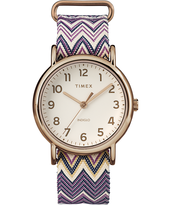 Weekender Chevron 38mm Fabric Strap Watch  large