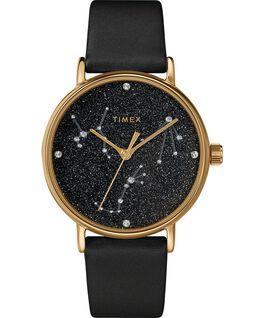 Orologio Celestial Opulence 37 mm con cinturino testurizzato Oro/Nero-BILANCIA,SCORPIONE,SAGITTARIO large