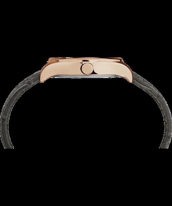 Orologio Waterbury Traditional da 34mm con cinturino in pelle Rose-Gold-Tone/Gray/White large