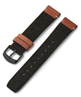 Cinturino in pelle e tessuto da 20 mm Nero large