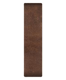 Cinturino slip-thru in pelle con estremità marrone/bronzo  large