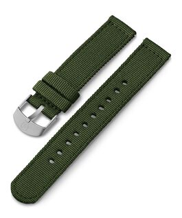 Cinturino in tessuto da 18 mm Verde large