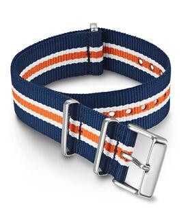 Cinturino slip-thru in tessuto doppio strato da 20 mm Arancione large