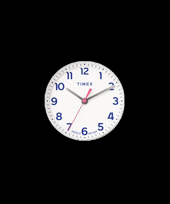 Quadrante bianco/Lancetta dei secondi rosa  large