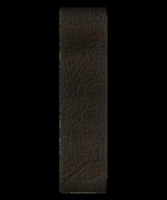 Cinturino scorrevole in pelle marrone scuro  large