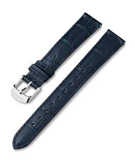 Cinturino in pelle stampa coccodrillo da 16 mm Blu large