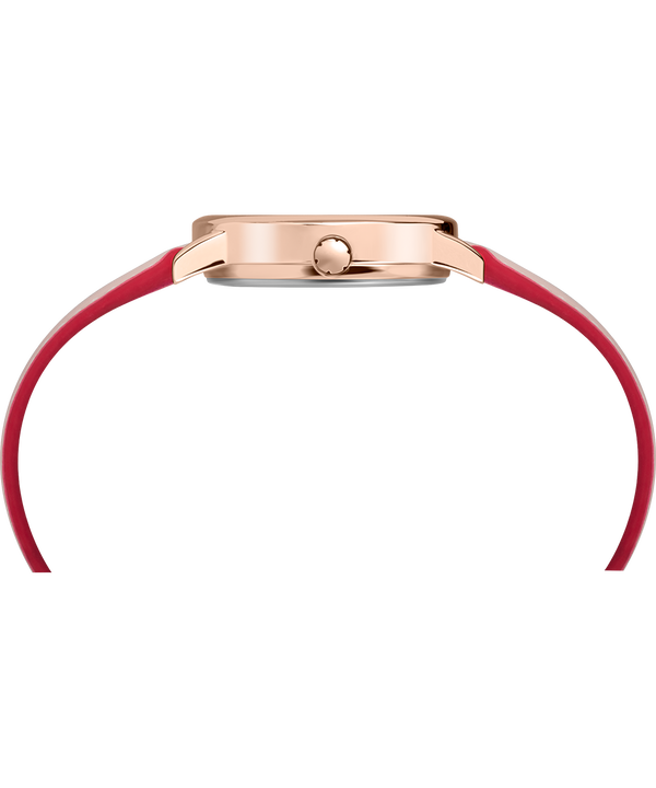Easy Reader Color Pop 30 mm con cinturino in pelle  Rose-Gold-Tone/Pink/Cream large