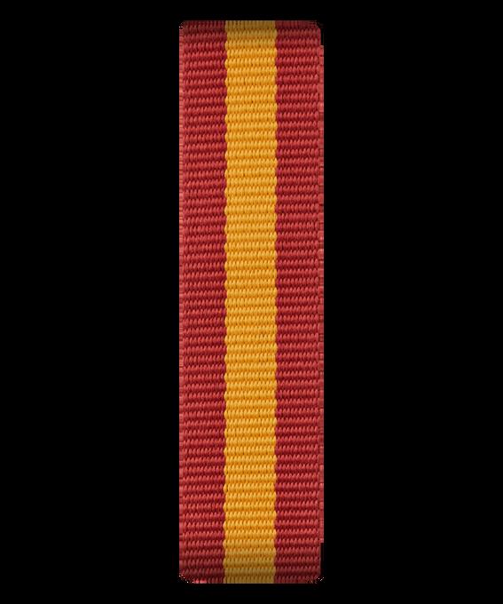 Cinturino a scorrimento in nylon rosso e giallo  large