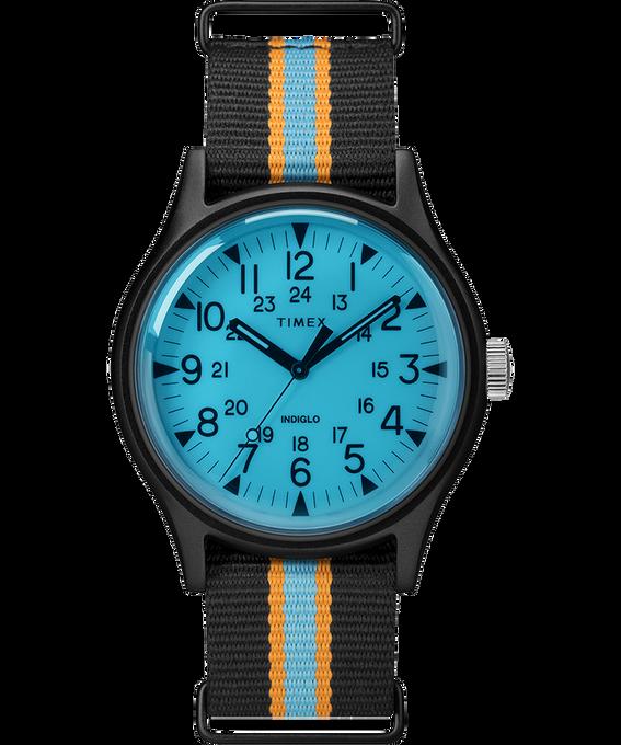 Orologio MK1 California con cinturino il tessuto da 40 mm Nero/Blu large