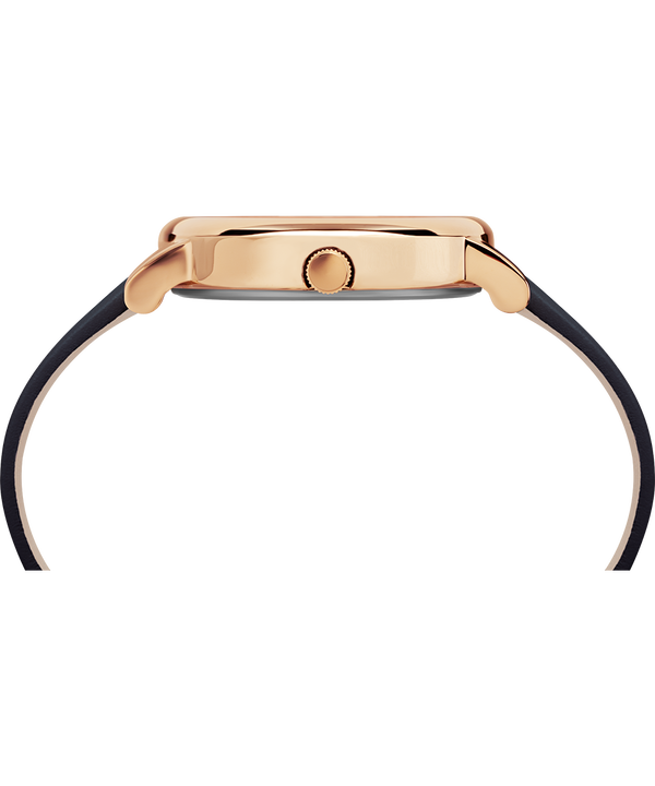 Crystal Bloom 38 mm con cinturino in pelle  Rose-Gold-Tone/Blue large