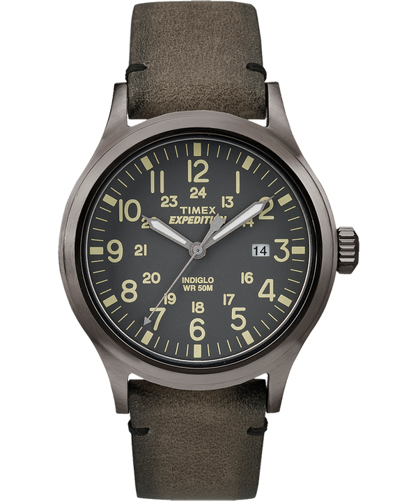Expedition Scout 40 mm con cinturino in pelle  Gray/Brown large