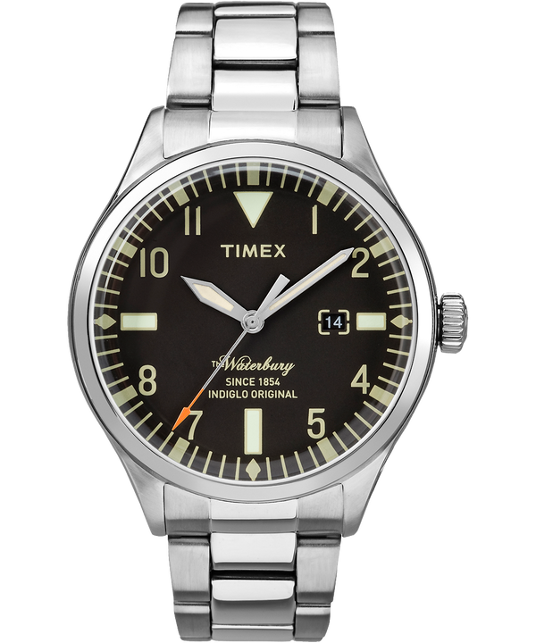 Waterbury Traditional 3 Hand 40mm Stainless Steel Watch  large