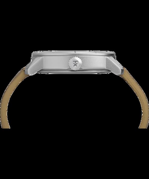 Mod44 44 mm con cinturino in pelle  Chrome/Tan/White large