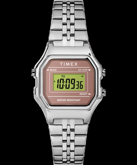 Digital Mini 27mm Bracelet Watch Silver-Tone/Pink large