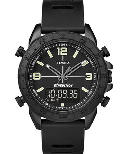Expedition Pioneer Combo 41 mm con cinturino in silicone quick-release Nero large
