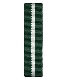Cinturino a scorrimento in nylon verde e bianco  large