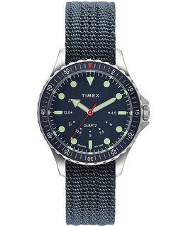 Orologio Navi Depth da 38mm con cinturino in tessuto Acciaio inossidabile/Blu large