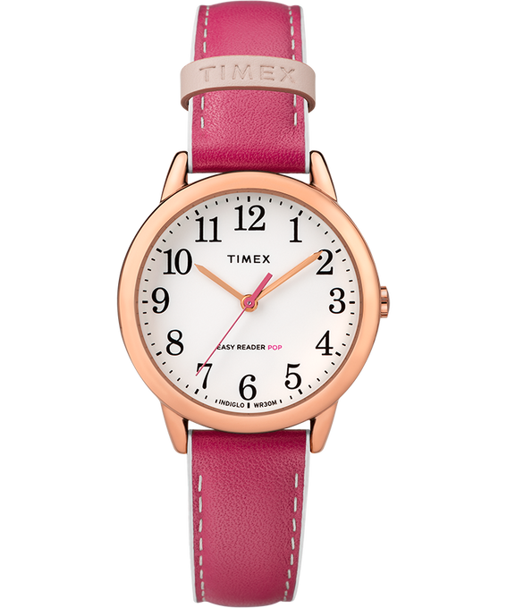 Easy-Reader-30mm-Exclusive-Color-Pop-Leather-Womens-Watch