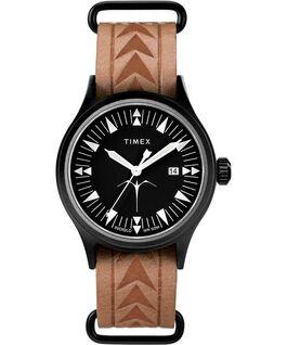 Orologio Timex x Keone Nunes da 40mm con cinturino in pelle Nero/Marrone large