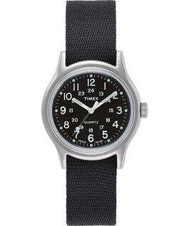 MK1 Military 36 mm con cinturino in gros-grain  Silver/Nero large