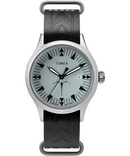 Orologio Timex x Keone Nunes da 40mm con cinturino in pelle Silver/Nero/Grigio large