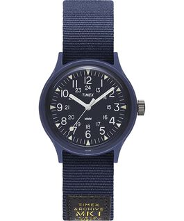 MK1 Military 36 mm con cinturino in gros-grain  Blu large