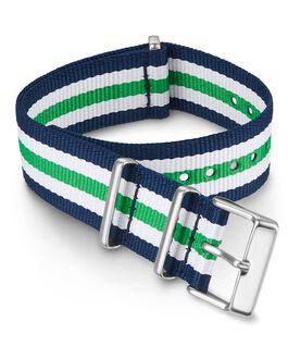 Cinturino slip-thru in tessuto doppio strato da 20 mm Verde large