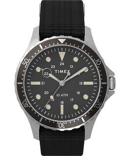 Navi XL 41mm Fabric Slip Thru Strap Watch Stainless-Steel/Black large