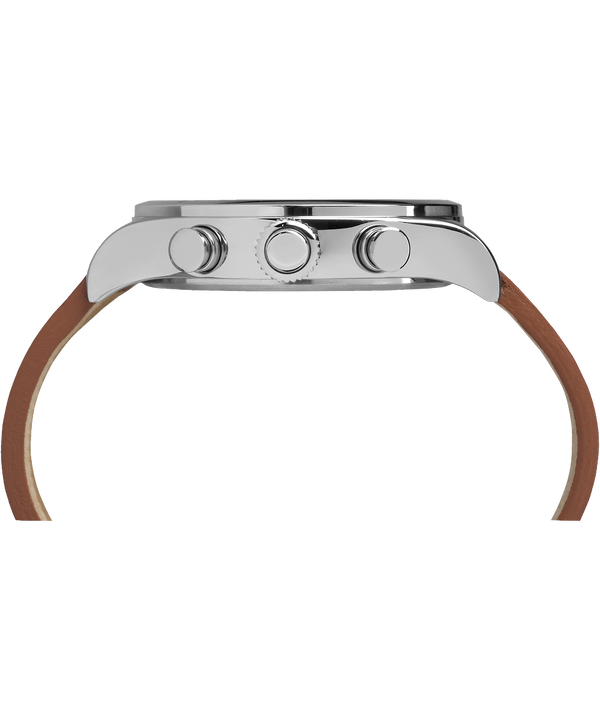 Waterbury Traditional 42 mm con cinturino in pelle  Stainless-Steel/Brown/Black large